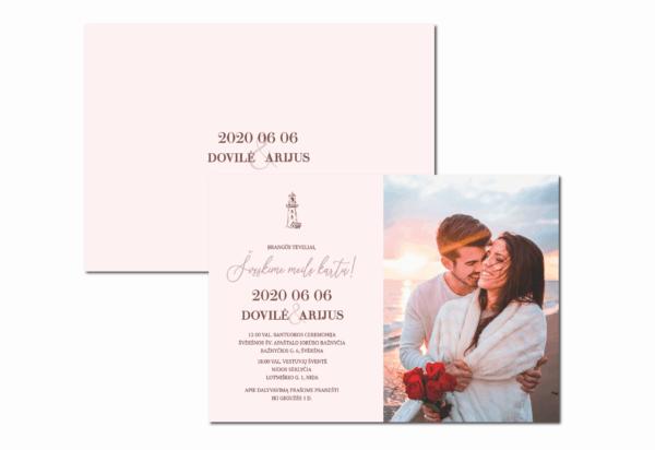 vestuvių kvietimai su nuotrauka