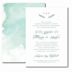 vestuvių kvietimai akvarelė