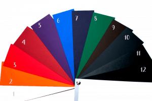 Folijavimo popieriaus spalvų paletė