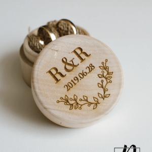 graviruota žiedų dėžutė