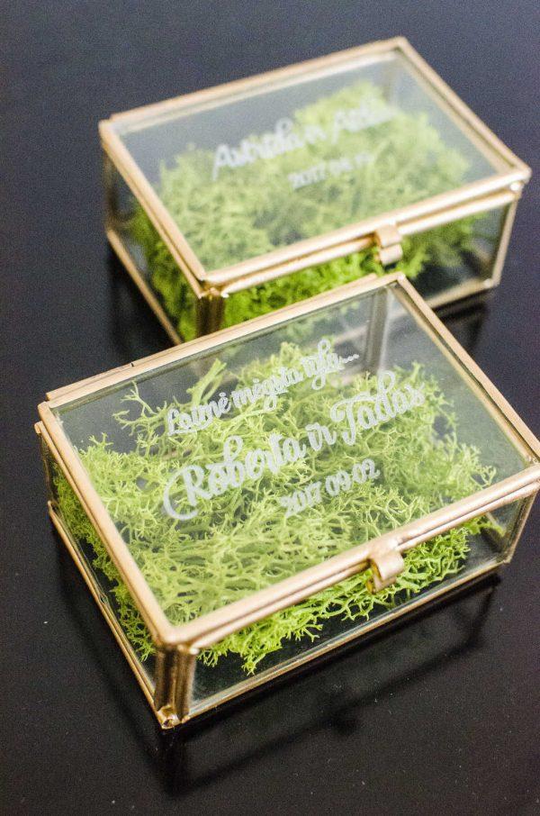 Auksinės dėžutės žiedams
