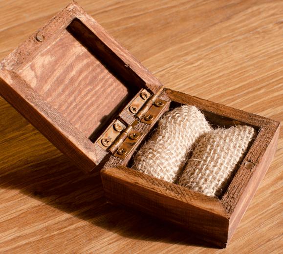 Vestuvinių žiedų dėžutė