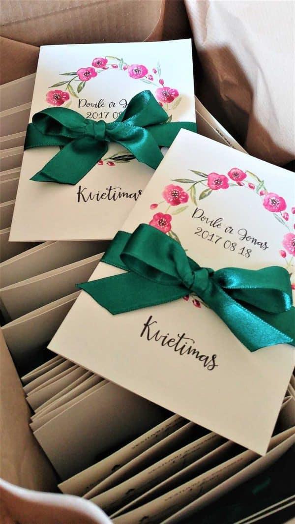 Vestuvinis kvietimas Žalias