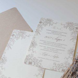Vestuviniai kvietimai Meilės klasika su voku