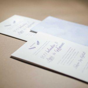 Vestuviniai kvietimai Baltai mėlyni