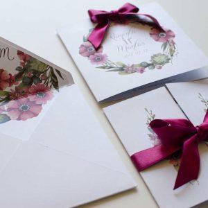 vestuviniai kvietimai amelija gėlės
