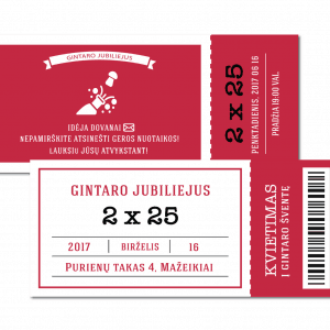 gimtadienio jubiliejaus kvietimai bilietai