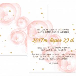 gimtadienio kvietimas pastelinė šventė