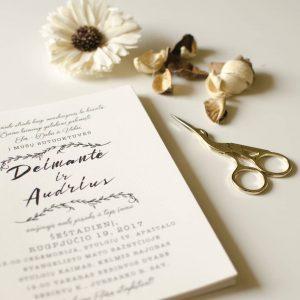 Vestuvinis kvietimas Banga