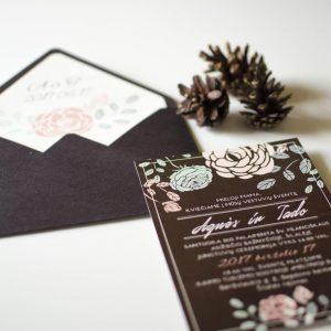 Vestuvinis kvietimas Amelija