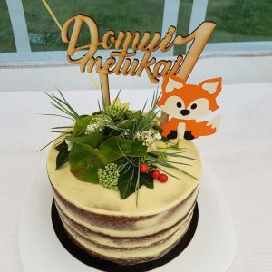 vaikų gimtadienio torto dekoracija