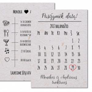Vestuvių Kvietimai Pasižymėk datą