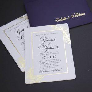 Vestuviniai kvietimai Aukso prisilietimas