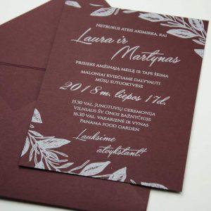 Vestuviniai kvietimai Baltomis raidėmis