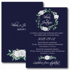 Vestuviniai kvietimai Baltos gėlės