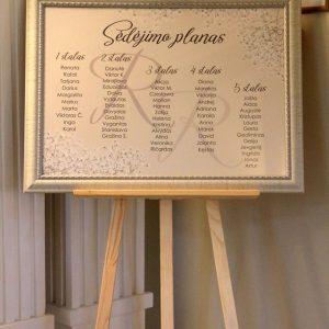 sėdėjimo planas vestuvėms