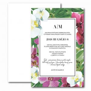 Vestuvių vienpusiai kvietimai-Gėlių-rojus