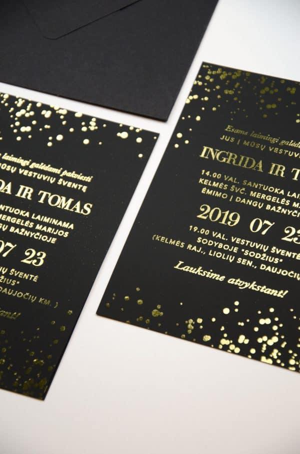vestuvių folijuoti kvietimai vasaros naktis