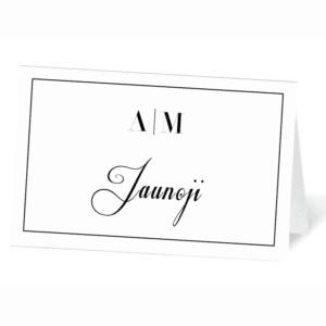 stalo svečio vardo kortelė