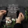 kvietimai ant organinio stiklo