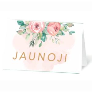 stalo kortelė akvarelinė meilė