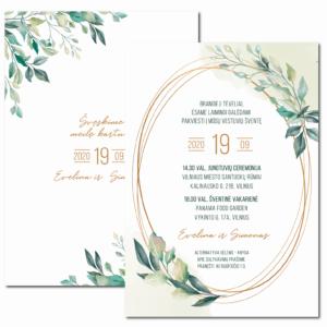 vestuviniai kvietimai Žaluma