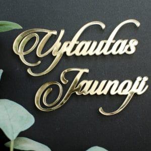 Auksinė kortelė vardas vestuvėms