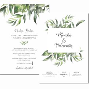 vestuvių kvietimai lengvos šakelės