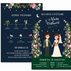 vestuvių kvietimas su programa