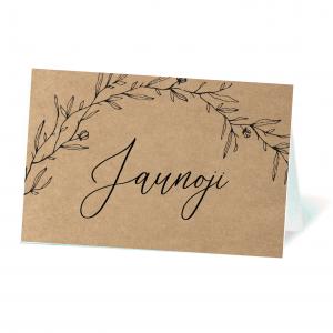 stalo svečio vardo kortelė craft popierius