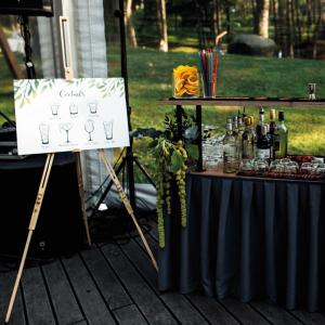 baro kokteilių plakatas vestuvės