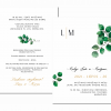 vestuviniai kvietimai su inicialais ir žaluma