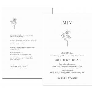 vestuviniai kvietimai su inicialais